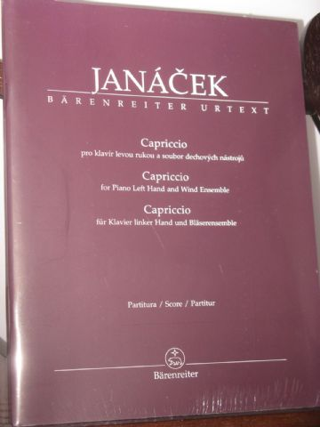 Janacek L - Capriccio for Piano Left Hand & Wind Ensemble